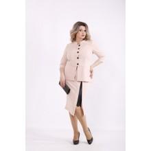 Бежевый костюм: блузка и юбка КККZ53-01430-3