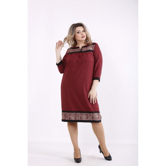 Бордовое платье КККZ59-01428-3