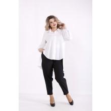 Белая блузка с длинной спинкой КККZ8-01449-1