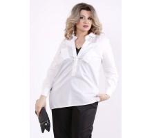Комплект: черная майка и белая блузка КККZ9-01448-2