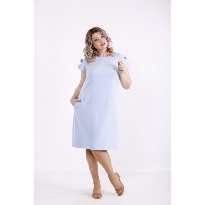 Голубое простое платье КККX0012-01494-1