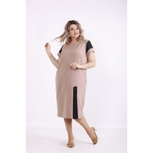Бежевое платье КККX0013-01493-3