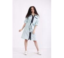Голубое платье-рубашка КККX0018-01492-1
