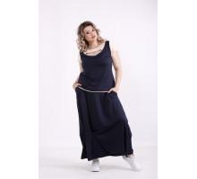 Синий комплект: юбка и блузка КККX0023-01490-2