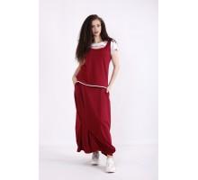 Бордовый комплект: юбка и блузка КККX0024-01490-1