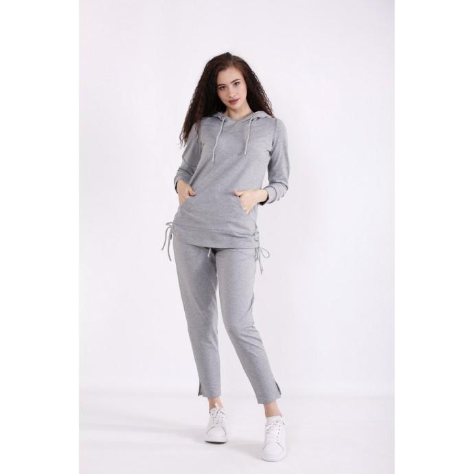 Спортивный светло-серый костюм КККX0027-01489-1