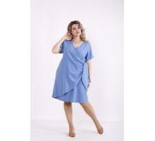 Легкое голубое льняное платье КККX0029-01488-2