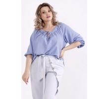 Голубая блузка КККX0032-01487-2