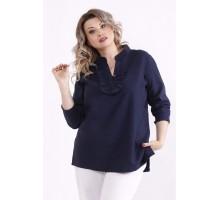 Темно-синяя блузка КККX0036-01486-1