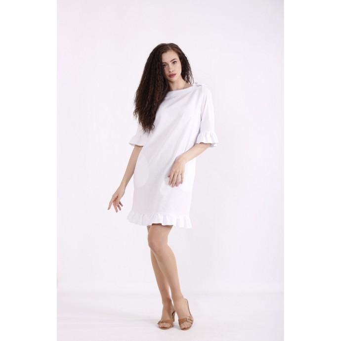 Белое платье КККX0039-01485-1