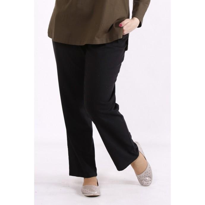 Черные льняные штаны КККX005-b073-2