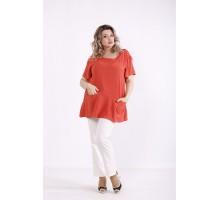 Терракотовая блузка КККX0046-01482-3