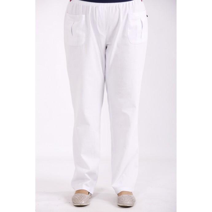 Белые льняные штаны КККX006-b073-1