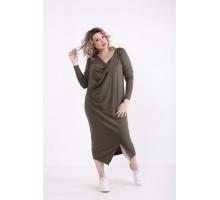 Платье-мешок хаки КККX0057-01475-3