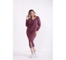 Сливовое платье-мешок КККX0058-01475-2