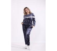 Синий велюровый костюм КККX0060-01474-3
