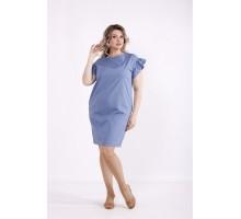 Голубое платье выше колена КККX007-01495-3