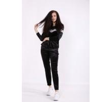 Черный велюровый костюм КККX0062-01474-1