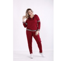 Бордовый спортивный костюм КККX0064-01473-2