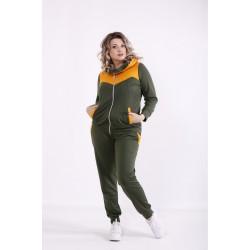 Спортивный костюм хаки КККX0067-01472-2