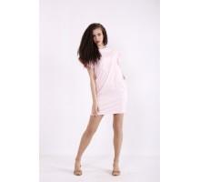 Розовое короткое платье КККX009-01495-1