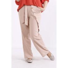 Бежевые льняные брюки КККX002-b074-2