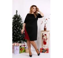 Черное с бордовым платье ККК1212-0686-2