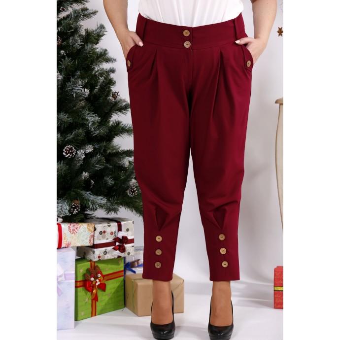 Бордовые брюки свободного кроя ККК123-b033-1