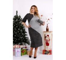 Трикотажное платье серого цвета ККК1222-0683-1