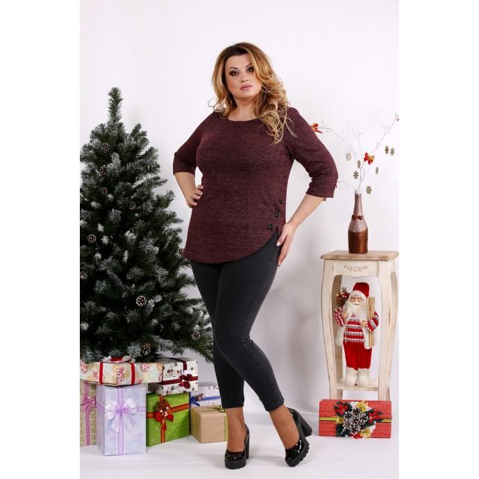 Бордовая стильная блузка ККК1248-0672-2