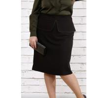Черная стильная юбка ККК1811-0749-2