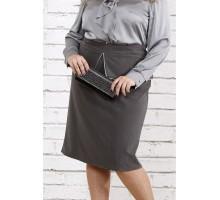Темно-серая юбка из вискозы ККК1812-0749-1