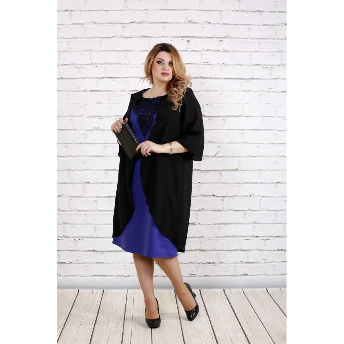 Фиолетовое платье с кружевом ККК1816-0747-3