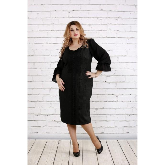 Темно-зеленое платье ККК1821-0746-1