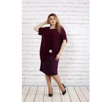 Баклажановое платье ККК1822-0745-3