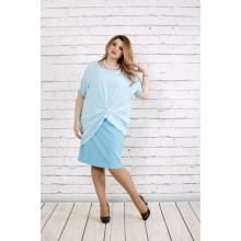 Голубое платье ККК1824-0745-1