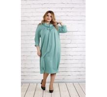 Красивое скрывающее платье цвета шалфей ККК1825-0744-3