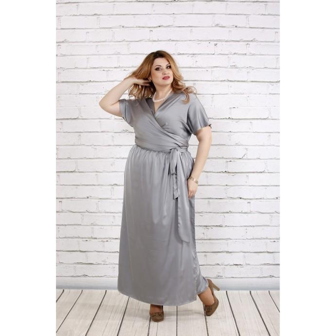 Великолепное платье стального цвета ККК1833-0742-1