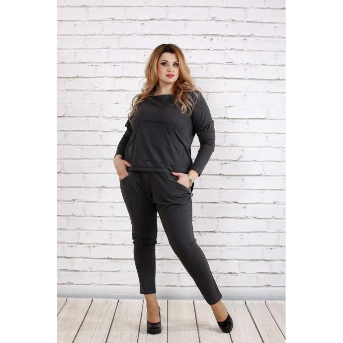 Стильный и практичный темно-серый костюм ККК1843-0738-2