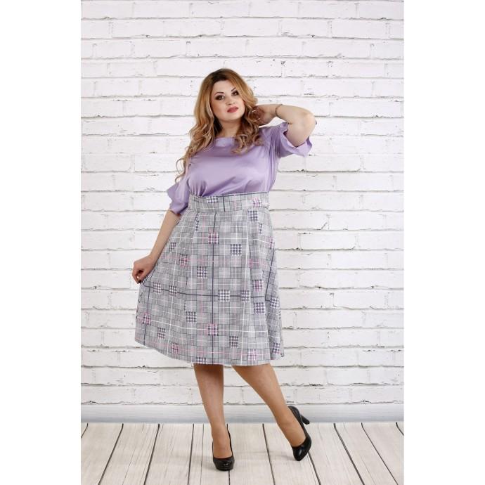 Сиреневое платье с пышной юбкой ККК1851-0735-1