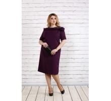 Стильное и нарядное баклажановое платье ККК1853-0734-2