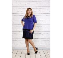 Платье с кружевом внизу фиолетового цвета ККК1855-0733-3