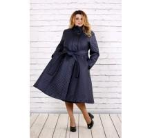 Синее красивое пальто ККК164-t0693-3
