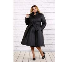 Черное пальто ККК166-t0693-1