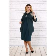 Зеленое платье с шифоном ККК1668-0709-2