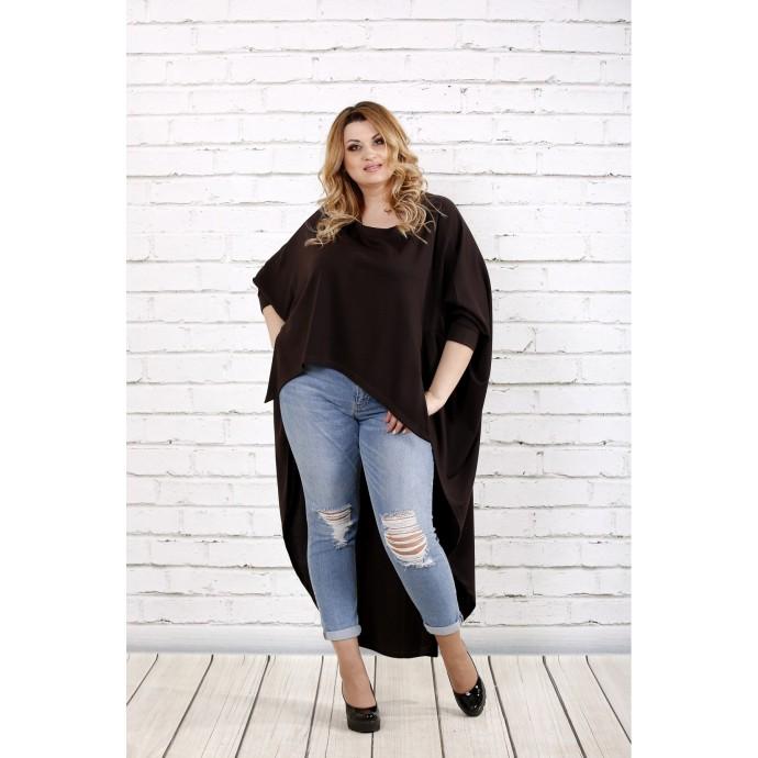 Классная шоколадная блузка ККК1659-0711-2