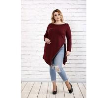 Бордовая блузка - туника ККК1661-0710-3