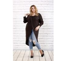 Приятная шоколадная блузка ККК1652-0713-3