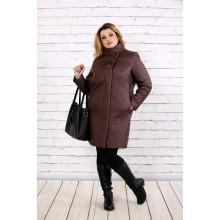 Пальто из плащевки коричневого цвета ККК162-t0724-2