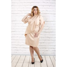 Атласное платье светло бежевое ККК1616-0728-3